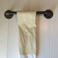 Kitchen Towel Bars Portable Bar Industrial Bath Etsy 6 Or 8 Steampunk Decor