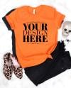Shirt Mock Up Bella Canvas 3001 Orange Unisex Tshirt Mockup Etsy