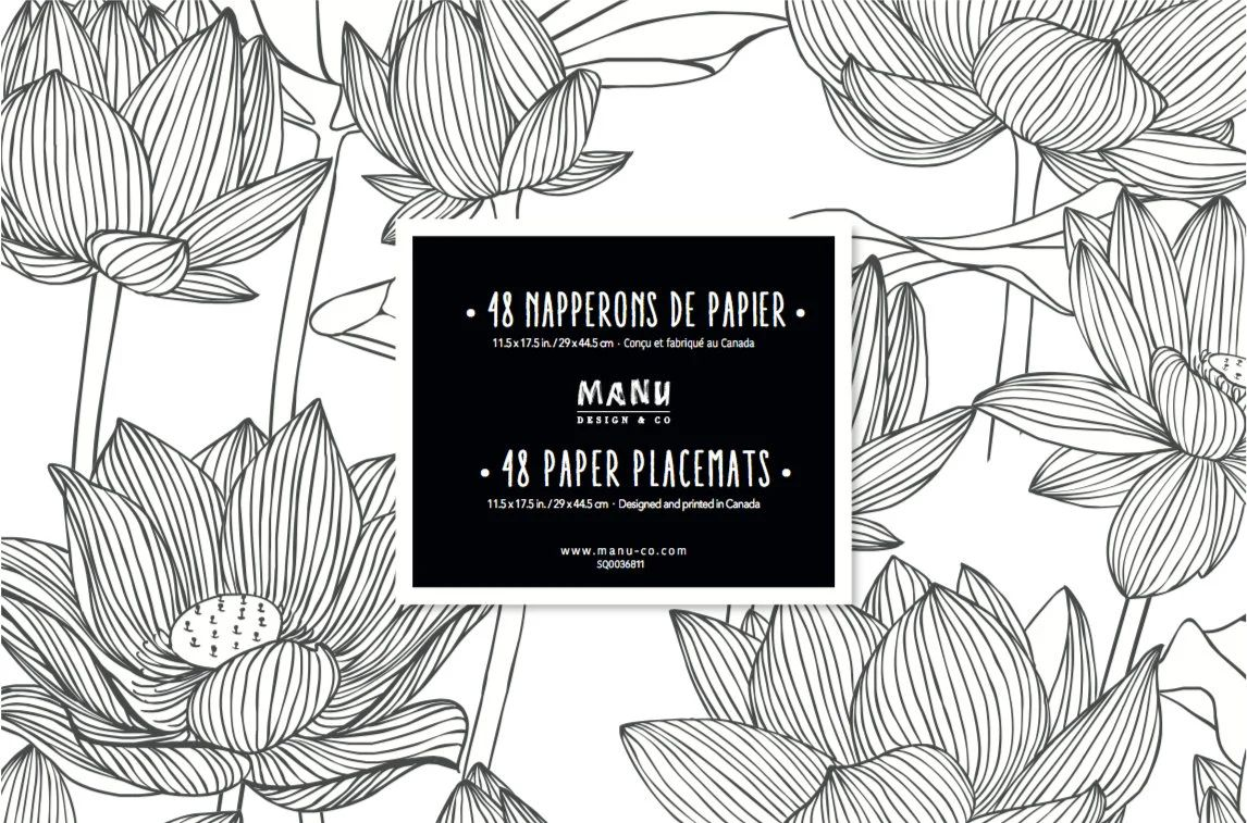 flower paper placemats