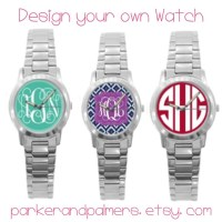 Design Your Own Monogrammed Watch | Etsy