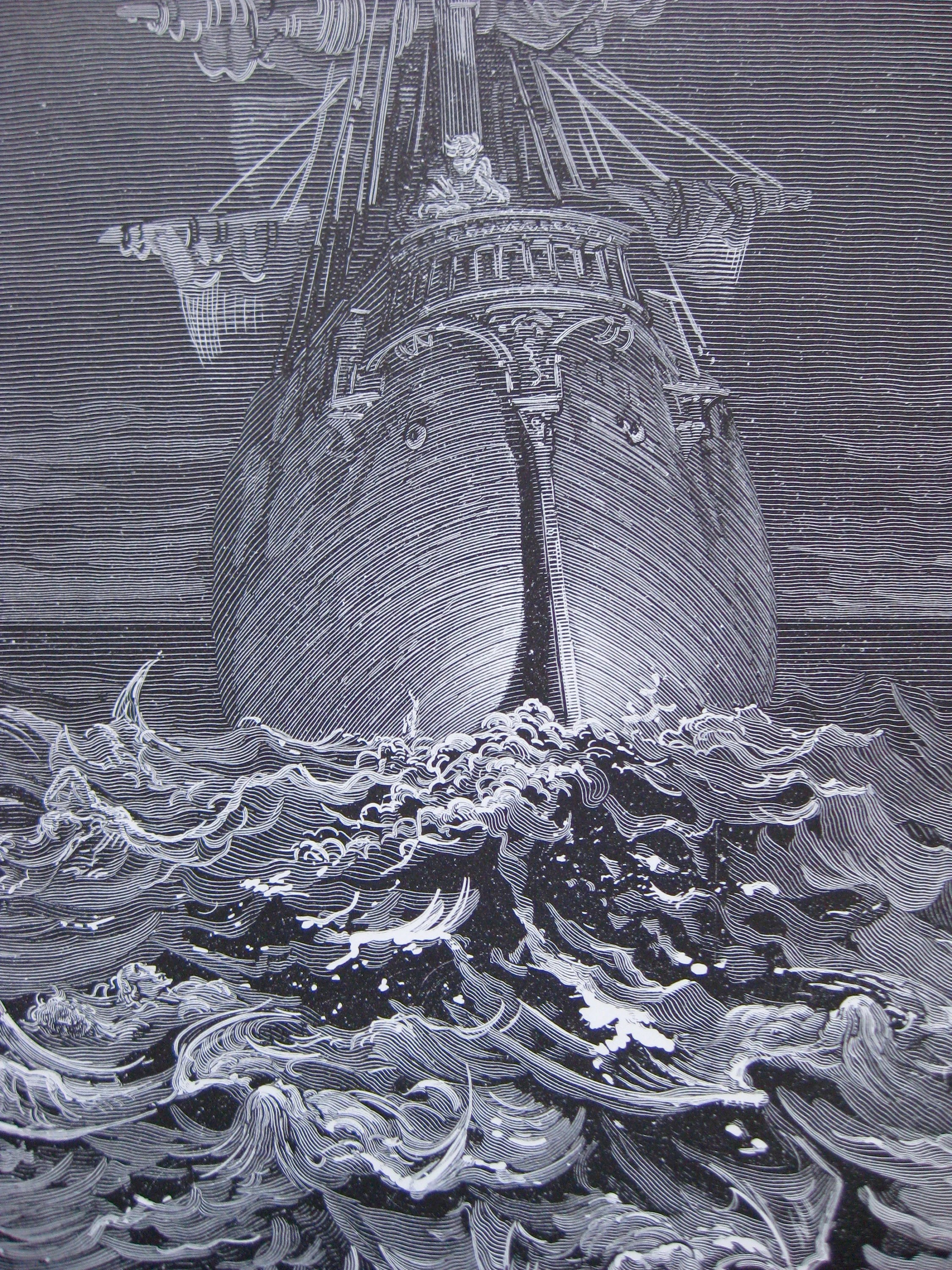 Gustave Dore Ancient Mariner Print 1875 Engraving 30 X 22 Cm Great For Framing