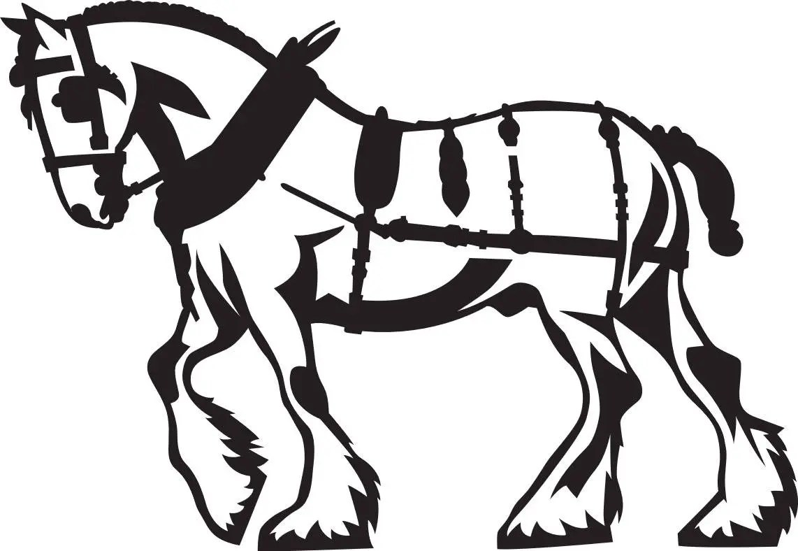 Clydesdale Horse Svg