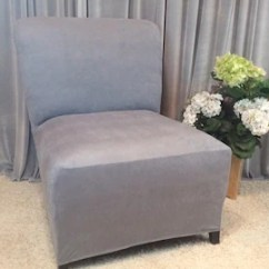 Gray Chair Slipcover Knoll Wassily Armless Cover Etsy Light Suede For Slipper Accent Parsons Side Many Colors