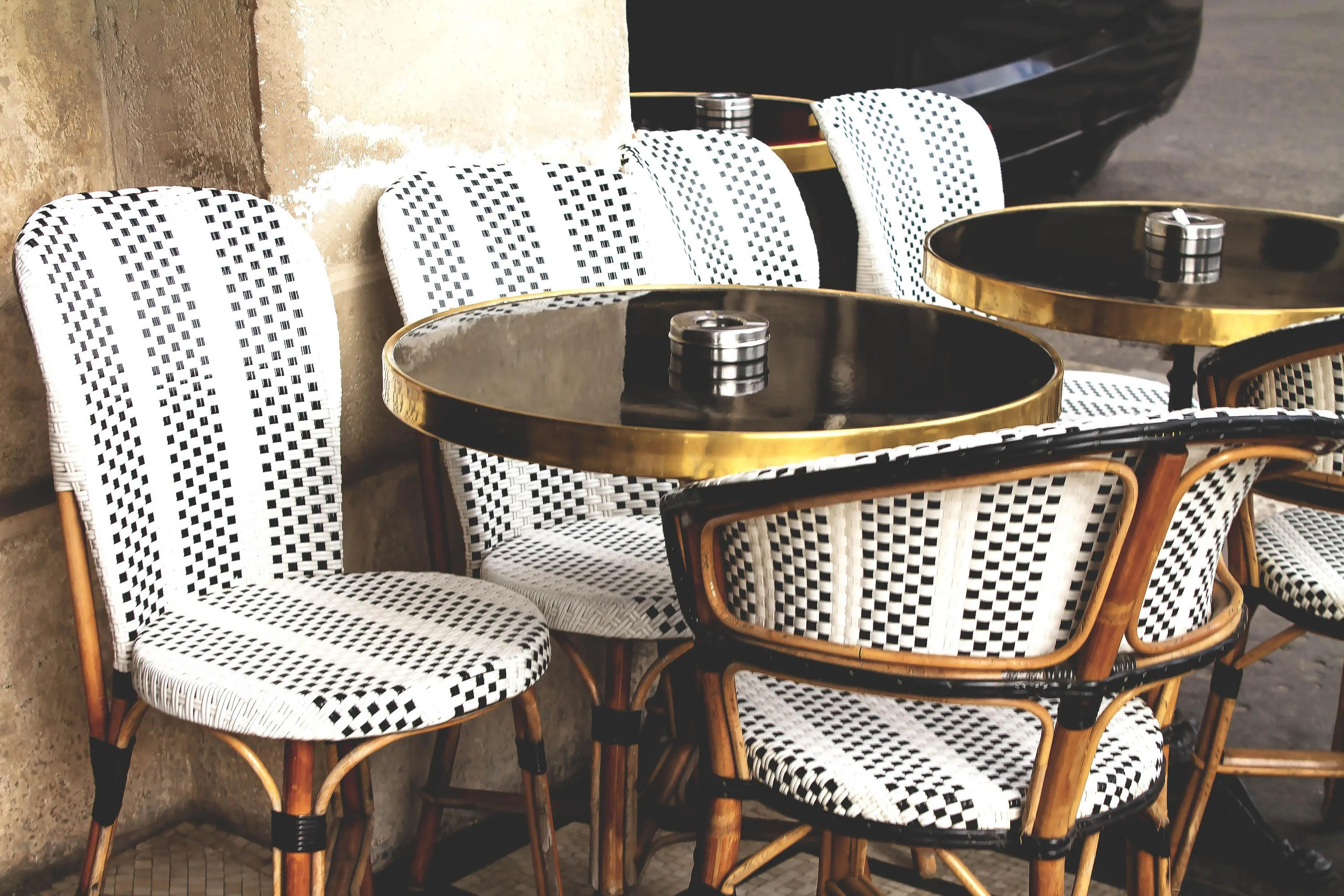 parisian cafe chairs easy chair dimensions paris france wall art street etsy image 0