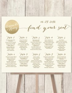 also wedding seating chart sign gold sparkle etsy rh