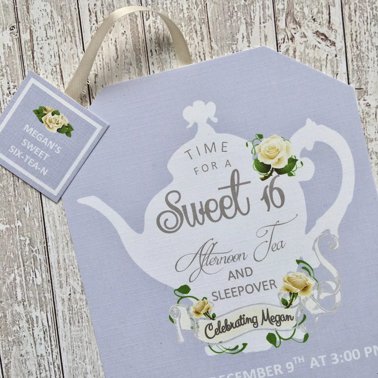 sweet 16 invitations tea party
