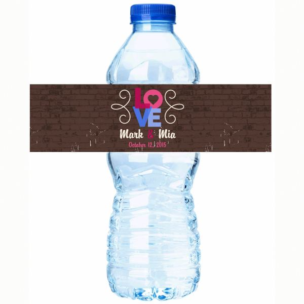 Wedding Water Bottle Labels Personalized
