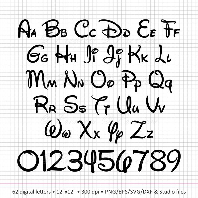 Buy 2 Get 1 Free Digital Clipart WaltDisney Alphabet