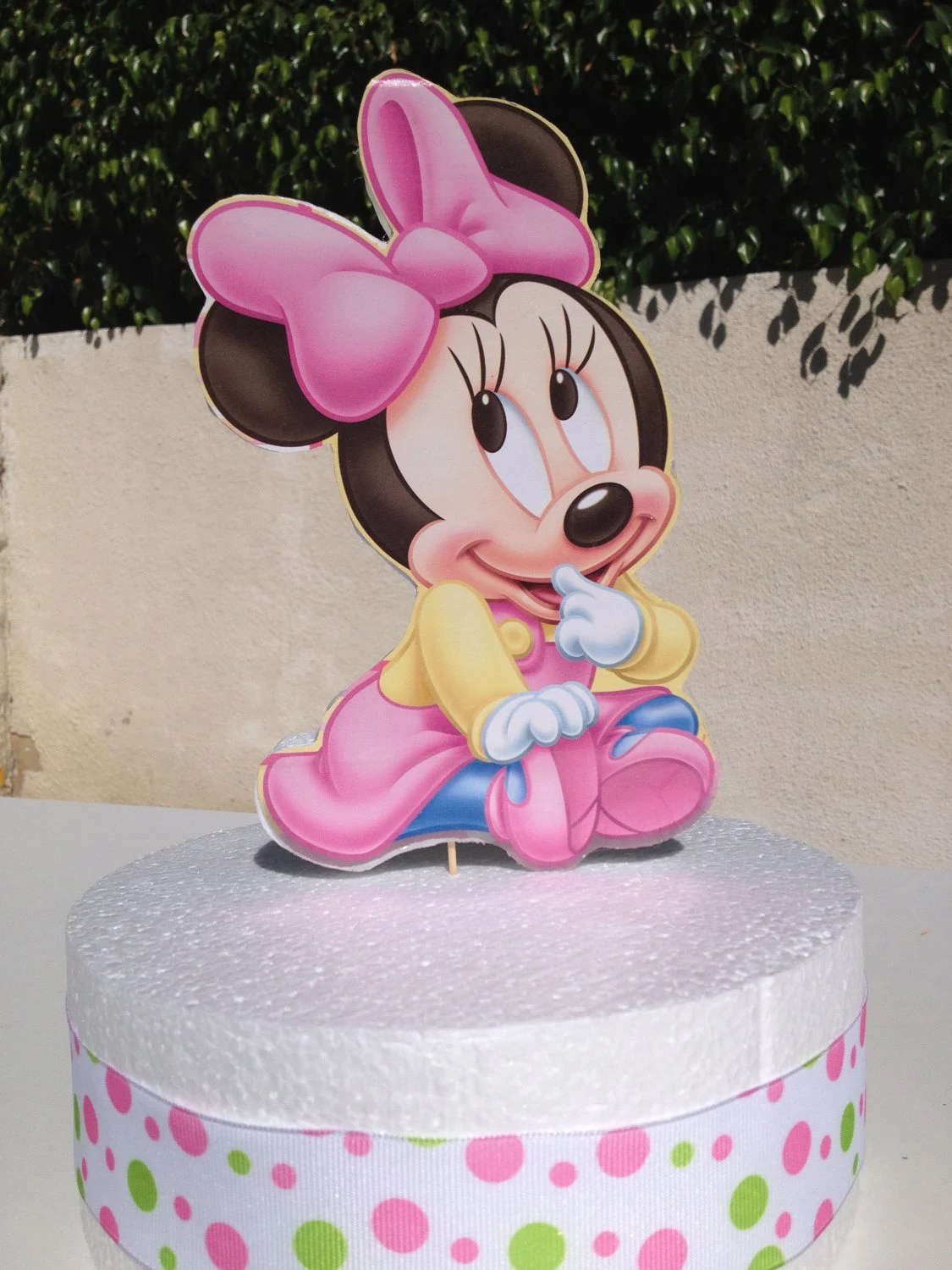 Minnie Mouse Baby Shower Cake : minnie, mouse, shower, Minnie, Mouse, Themed, Topper
