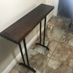 Narrow Console Table Reclaimed Wood Industrial Console Table Wood Console Table Sofa Table