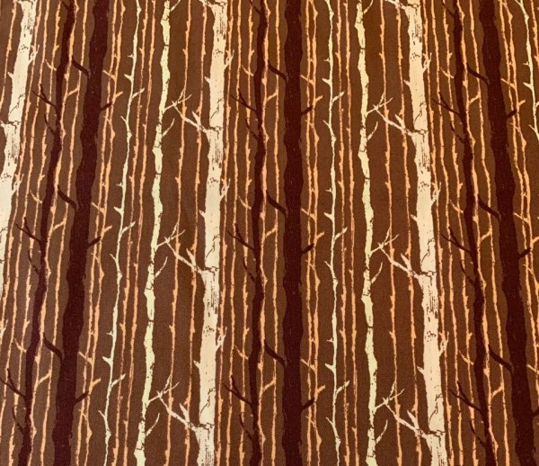 Forest Floor Art Fabrics - Tree Bark Cotton Woven Fabric