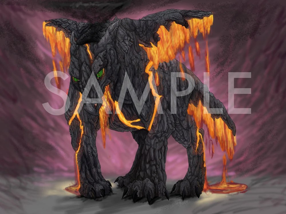 lava dragon print etsy