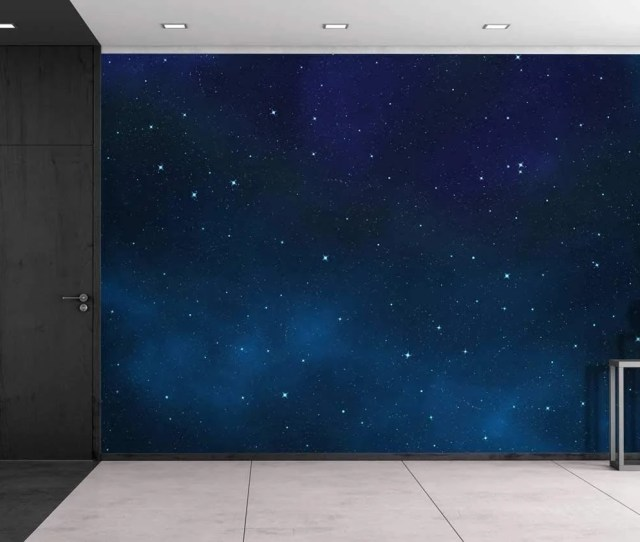 Wall26 Large Wall Mural Beautiful Scenery Of The Starry Night Self Adhesive Vinyl Wallpaper Removable Modern Decorating Wall Art