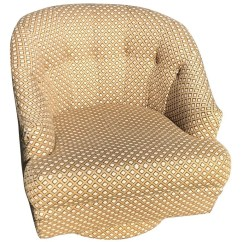 Swivel Club Chair With Ottoman Fancy Covers For Sale Barrel Back By Directional Etsy Image 0