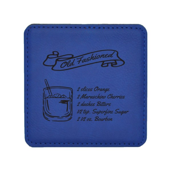 Fashioned Drink Coasters Mixed