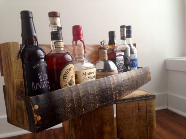 Bourbon Whiskey Barrel Stave Shelf