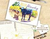 Howdy Handmade Postcard -...