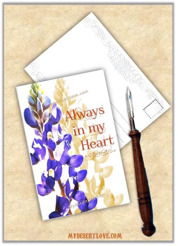 Always in my Heart Postca...