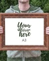 A3 Wooden Frame Mockup Styled Stock Photography Instant Etsy