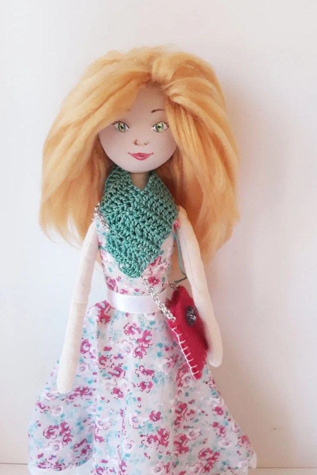 Fabric doll, handmade, so...