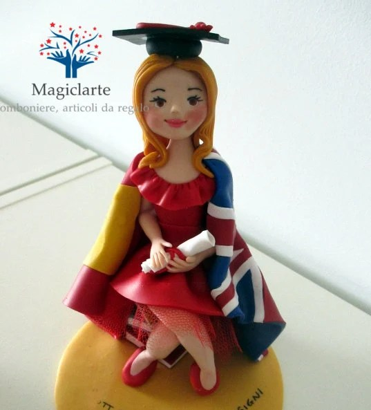 Cake topper for a graduat...