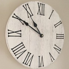 Kitchen Clocks Sink Types Etsy Farmhouse Clock 12 Wooden Wall Rustic Decor Remodel