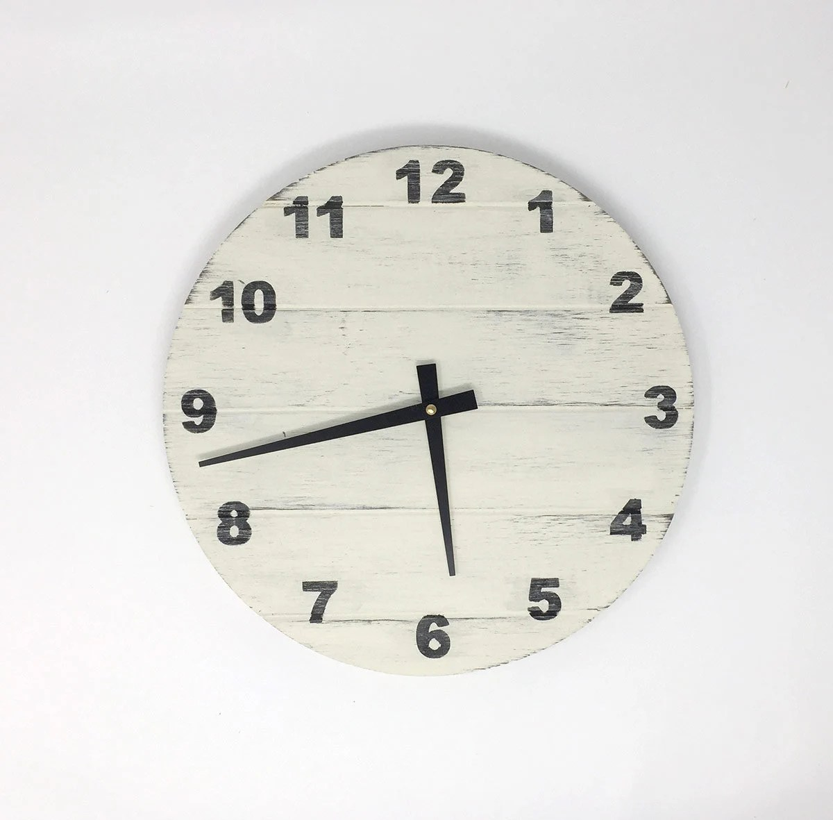 rustic kitchen clock round tables 12 wood wall etsy image 0