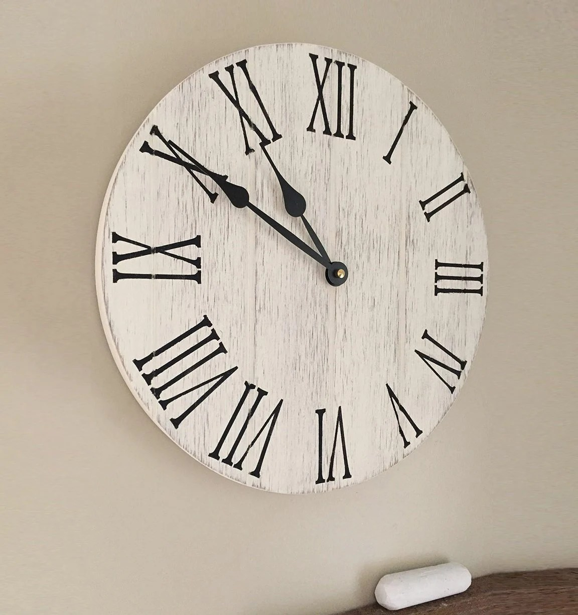 wooden kitchen clock heavy duty chairs farmhouse 12 wall rustic etsy image 0