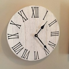 Rustic Kitchen Clock Rooms To Go Tables Farmhouse 12 Wooden Wall Etsy 50