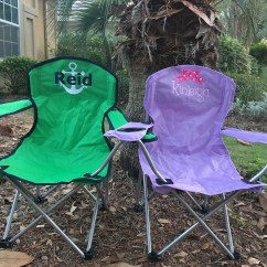 Folding Chair Embroidered Beach Kids Foldable Kid S Etsy Image 0