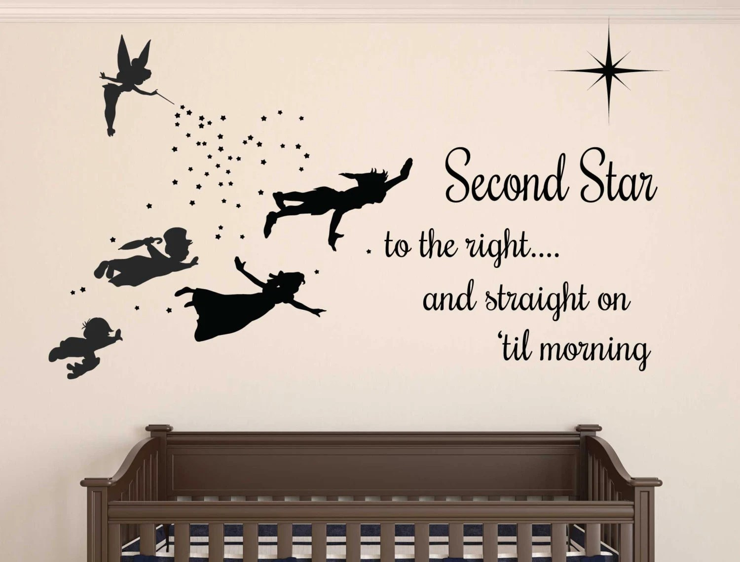 peter pan wall decal removable etsy