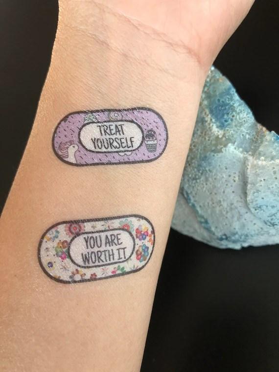 Anxiety Temporary Tattoo Mental Health Motivational Tattoos Etsy