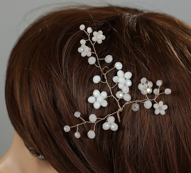 wedding hair pins, bridal hair pin, wedding hair pin, flower hair pins, bridal hair accessory, crystal glass pins