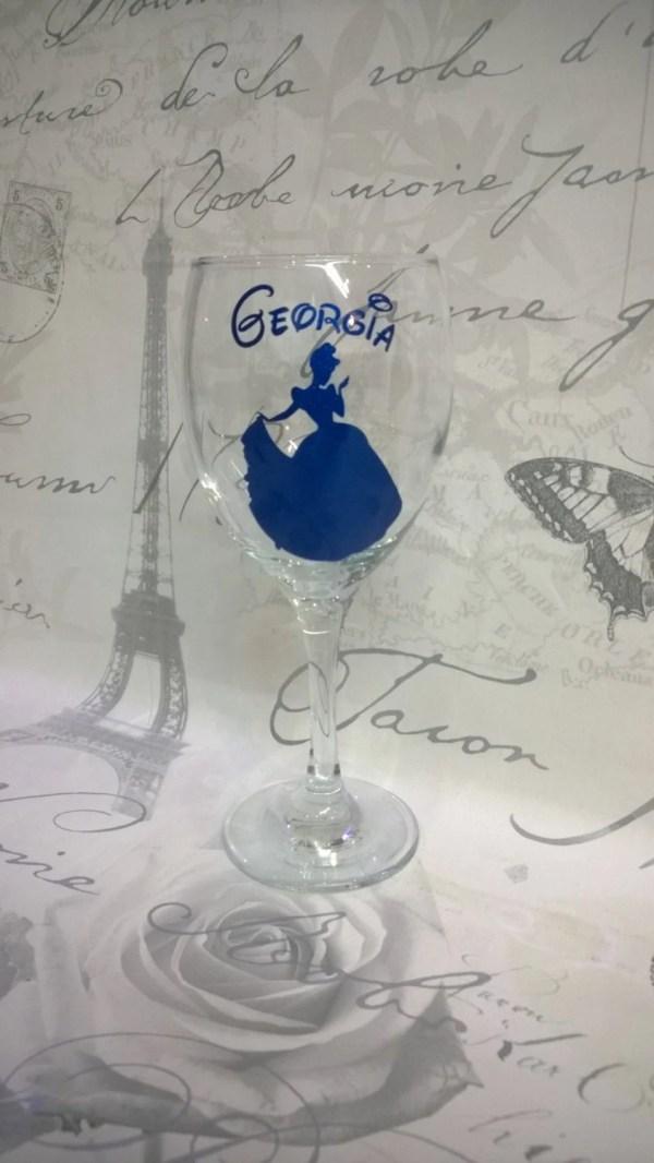 Disney Princess Cinderella Personalised Wine Glass