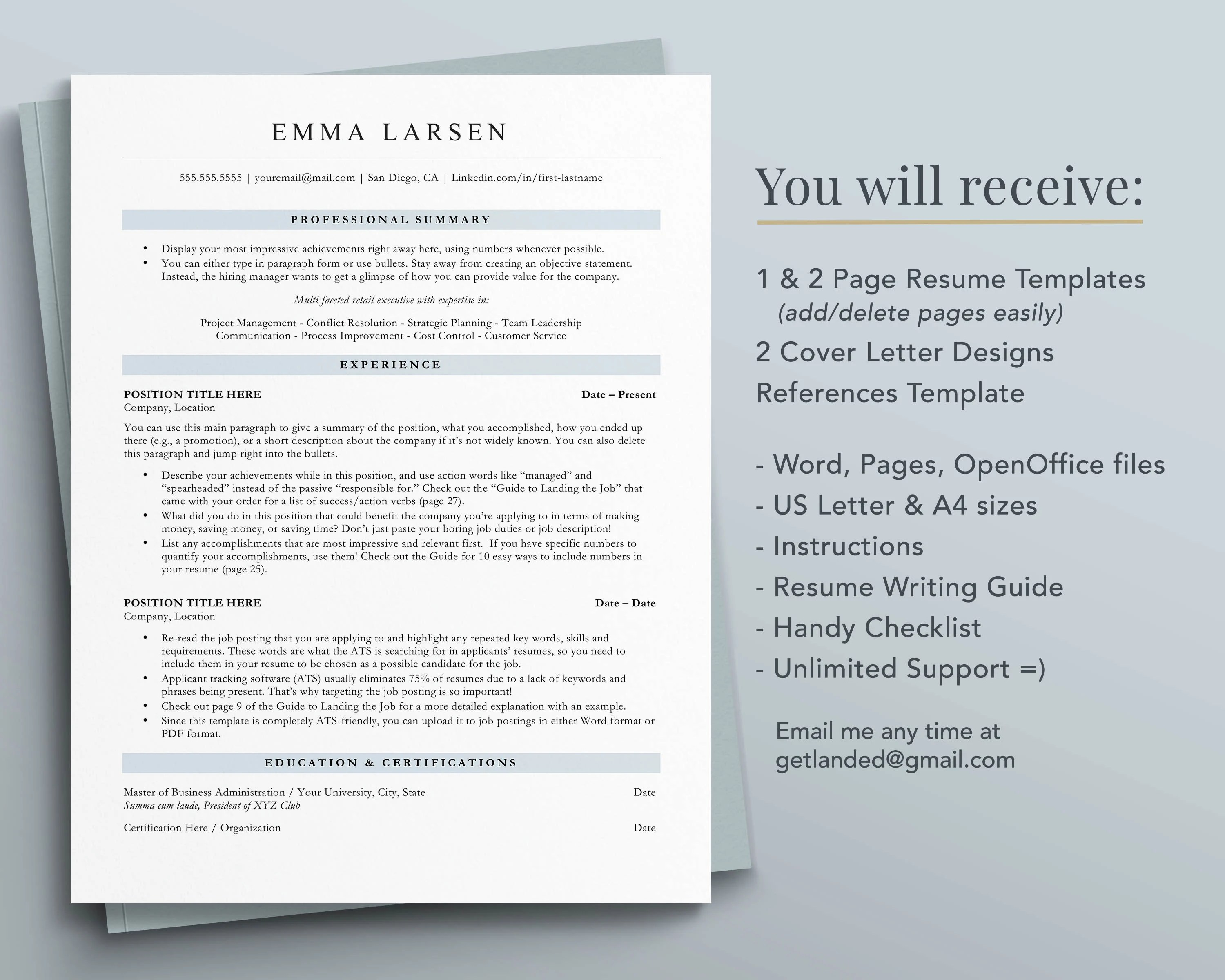 Microsoft word resume templates 2019 you ve just gotten the call for your dream job and the recruiter is asking for your resume as soon as possible the only problem is that you don t have a resume ready to send them that s no 19 google docs resume templates. Design Templates Resume Templates Google Docs Resume Template Executive Resume Template Ats Friendly Resume Template For Word Ats Compatible Resume Instant Download Pages