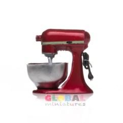 Red Kitchen Aid Mixer Portable Island Target Dollhouse Miniature Metallic Etsy
