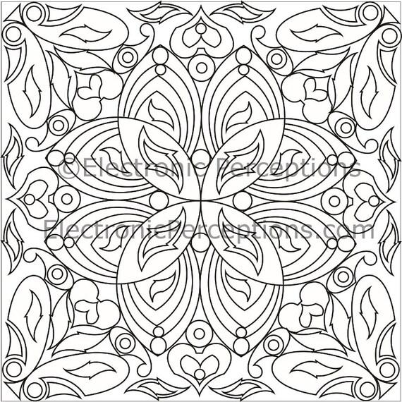 Mandala floreale ispirato adulto da colorare pagina pagina