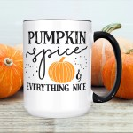 Pumpkin Spice Everything Nice Halloween Coffee Mug Microwave And Dishwasher Safe Ceramic Cup Fall October Autumn Gift