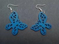 Wooden Butterfly earrings | Etsy