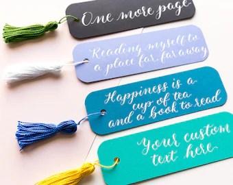 custom bookmarks etsy