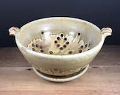 Berry Bowl set yellow speckled and wood ash