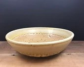 Yellow speckled and wood ash bowl