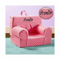 Kids Lounge Chairs Retro Diner Table And Chair Etsy Personalize My Anytime Pink Polka Dots