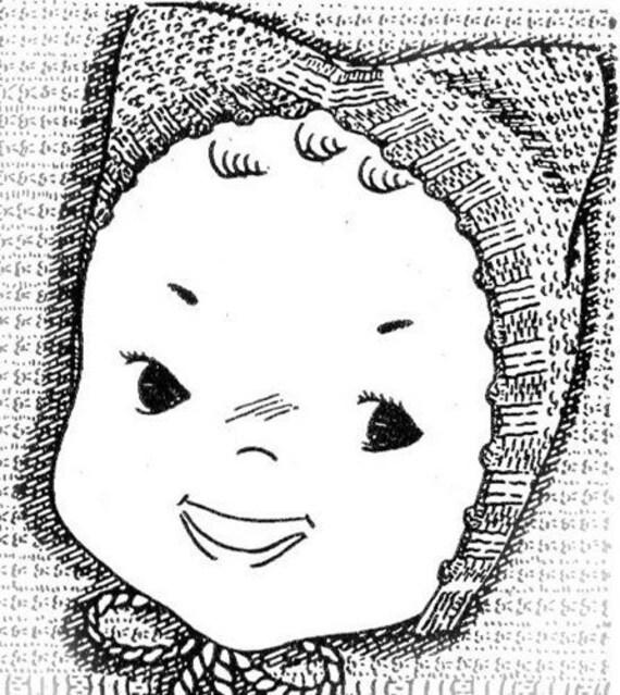 Knit Baby Kitten Cap Hat Bonnet Knitting Pattern 3 Month