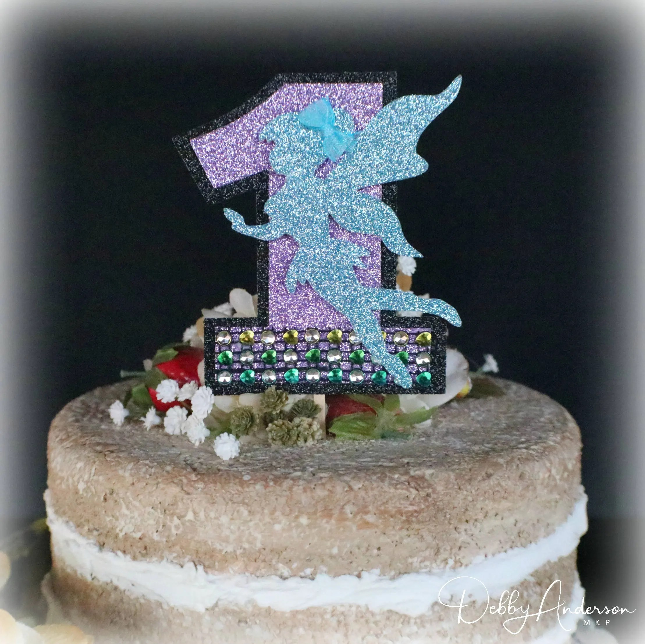 Fairy Smash Cake Topper Any Age Colors Fairy Smash Cake First