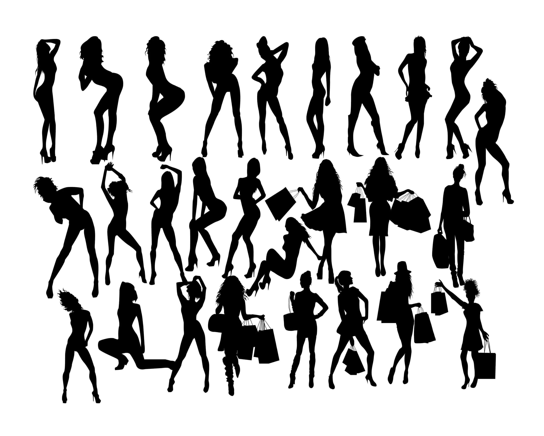 Woman Silhouette Svg Woman Svg Women Clip Arty Girl