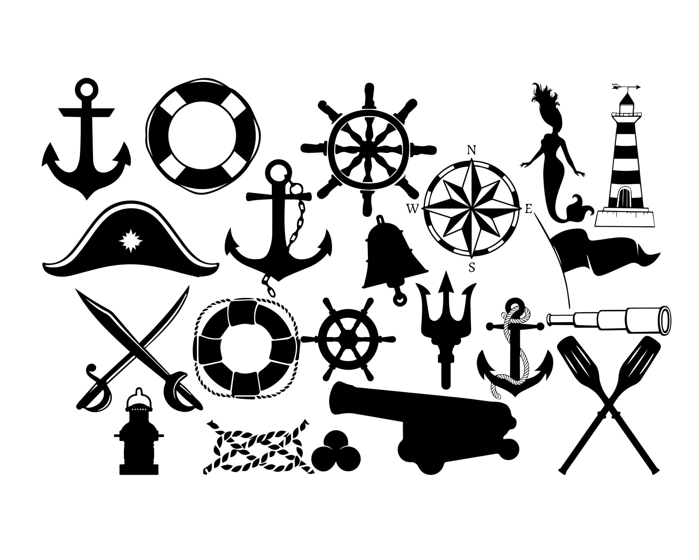 Nautical Silhouette Nautical Clipart Sea Sihouette Sailor