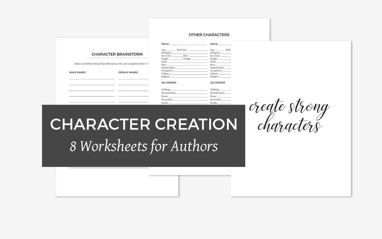 Character Worksheets Writing And Creating Strong Novel