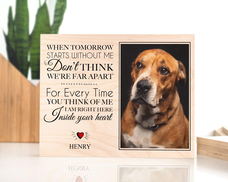 pet memorial frame dog