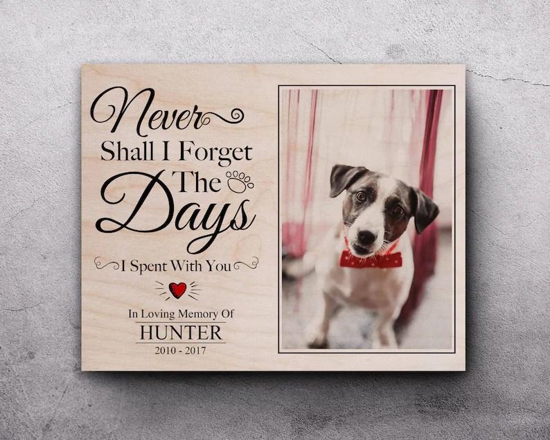 dog memorial photo dog